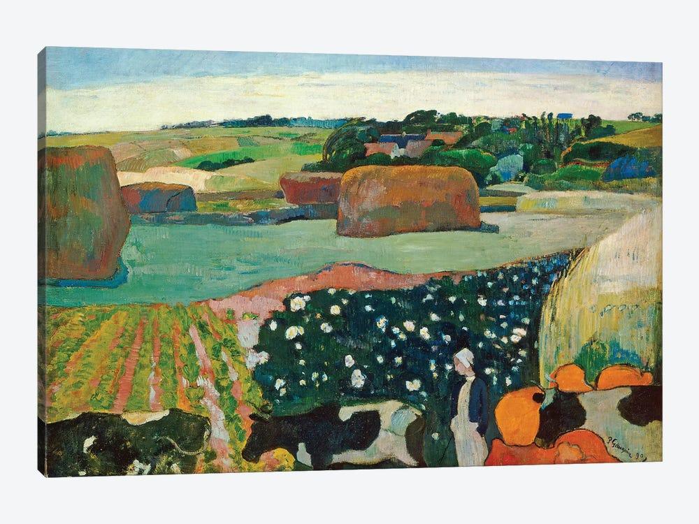 Haystacks In Brittany, 1890 by Paul Gauguin 1-piece Canvas Artwork