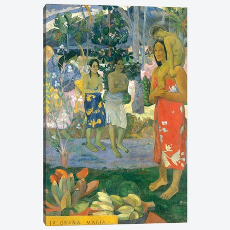 La Orana Maria (Hail Mary), 1891 Canvas Print #BMN7167} by Paul Gauguin Canvas Art