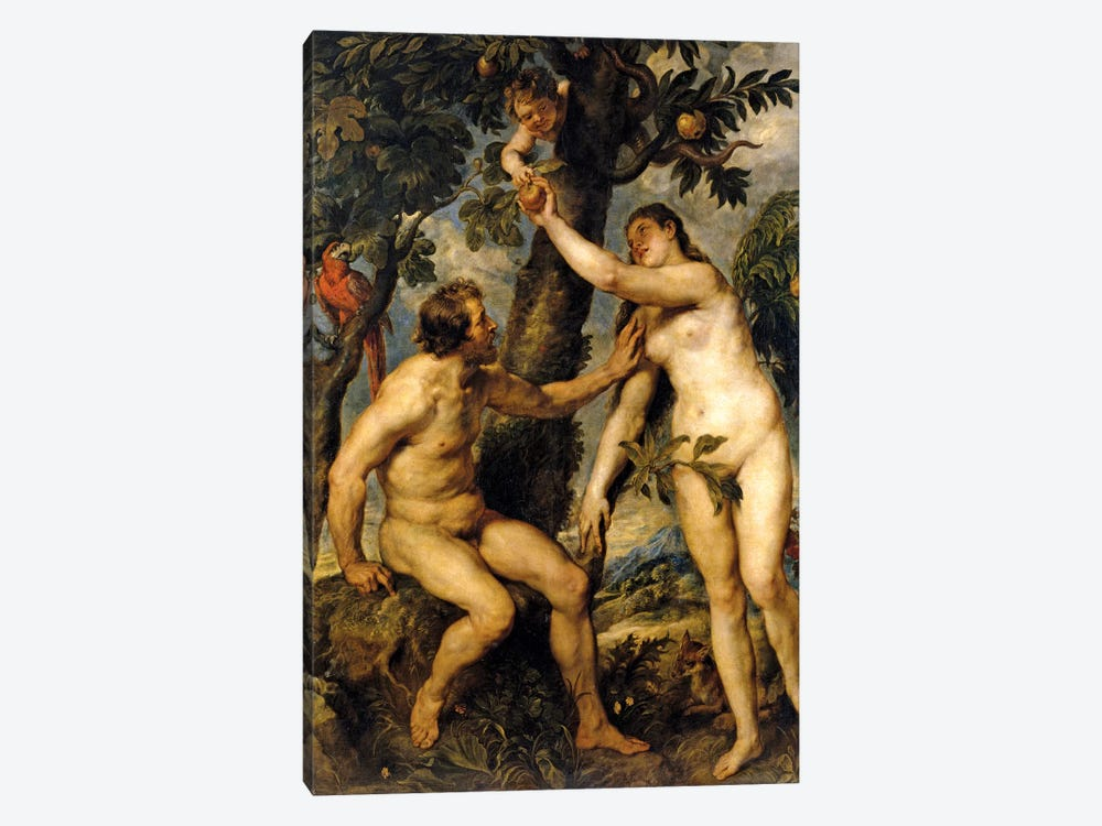 Adam And Eve (The Fall Of Man), 1628-29 by Peter Paul Rubens 1-piece Canvas Wall Art