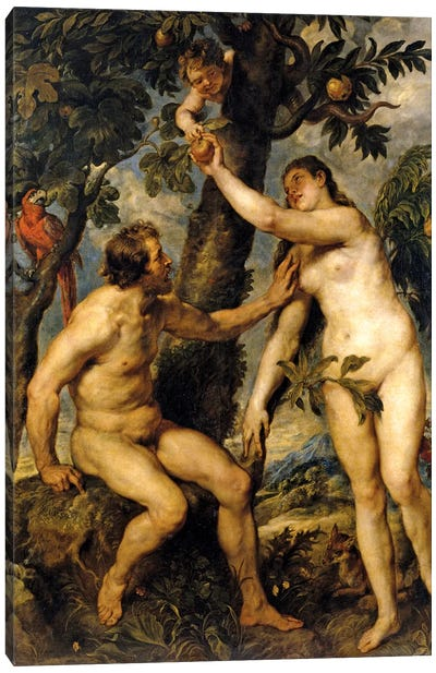 Adam And Eve (The Fall Of Man), 1628-29 Canvas Art Print