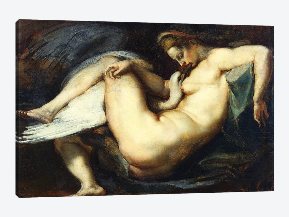 Leda And The Swan by Peter Paul Rubens 1-piece Canvas Art Print