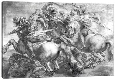 The Battle Of Anghiari (after Leonardo da Vinci) Canvas Art Print