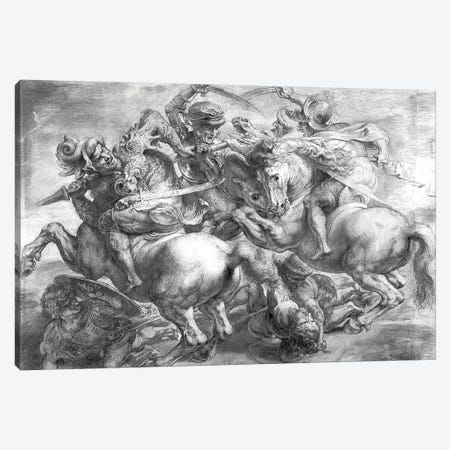 The Battle Of Anghiari (after Leonardo da Vinci) 3-Piece Canvas #BMN7176} by Peter Paul Rubens Art Print