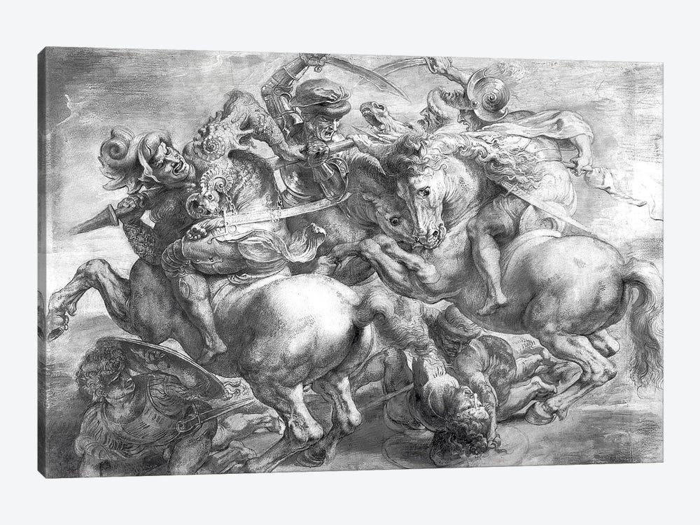 The Battle Of Anghiari (after Leonardo da Vinci) by Peter Paul Rubens 1-piece Canvas Print