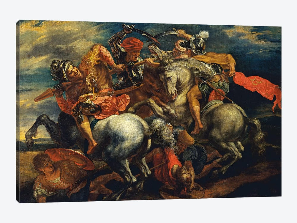 The Battle Of Anghiari (The Fight For The Standard) 1-piece Canvas Art