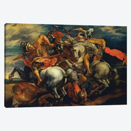 The Battle Of Anghiari (The Fight For The Standard) 3-Piece Canvas #BMN7177} by Peter Paul Rubens Art Print