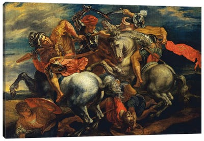 The Battle Of Anghiari (The Fight For The Standard) Canvas Art Print