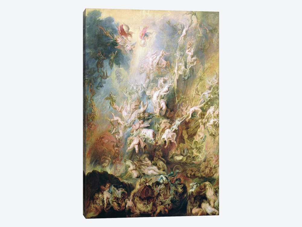 The Fall Of The Damned by Peter Paul Rubens 1-piece Canvas Art Print