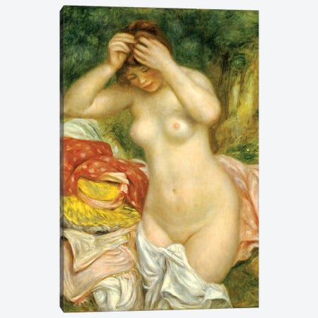 Bather Arranging Her Hair, 1893 Canvas Print #BMN7180} by Pierre-Auguste Renoir Canvas Print