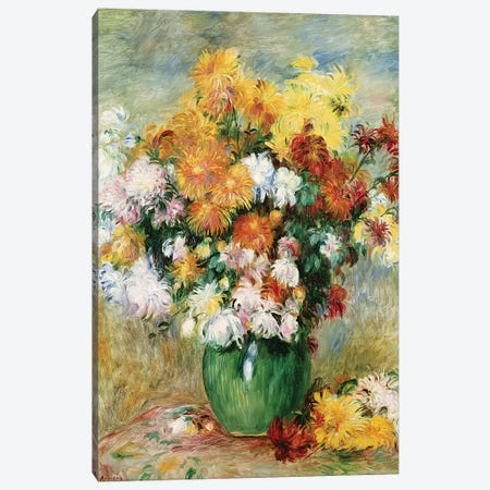 Bouquet Of Chrysanthemums, c.1884 Canvas Print #BMN7181} by Pierre-Auguste Renoir Canvas Art Print