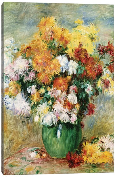 Bouquet Of Chrysanthemums, c.1884 Canvas Art Print