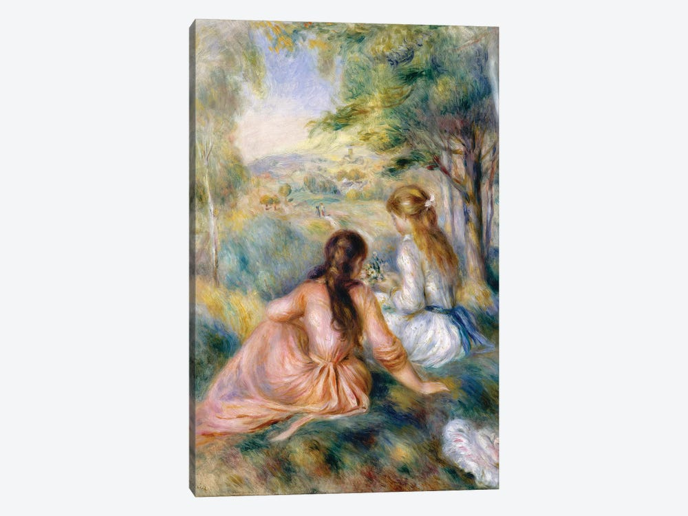 In The Meadow, 1888-92 by Pierre-Auguste Renoir 1-piece Canvas Art