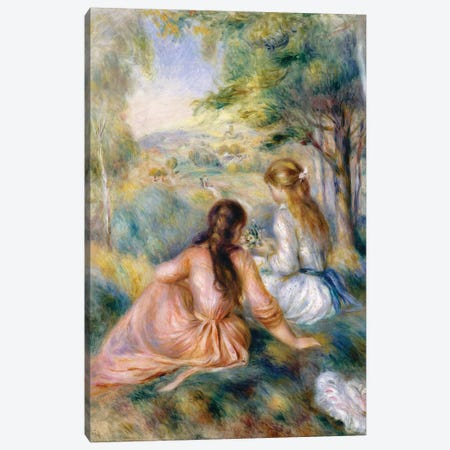 In The Meadow, 1888-92 Canvas Print #BMN7182} by Pierre-Auguste Renoir Canvas Art Print