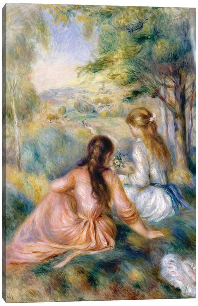 In The Meadow, 1888-92 Canvas Art Print