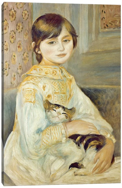 Julie Manet With Cat, 1887 Canvas Art Print