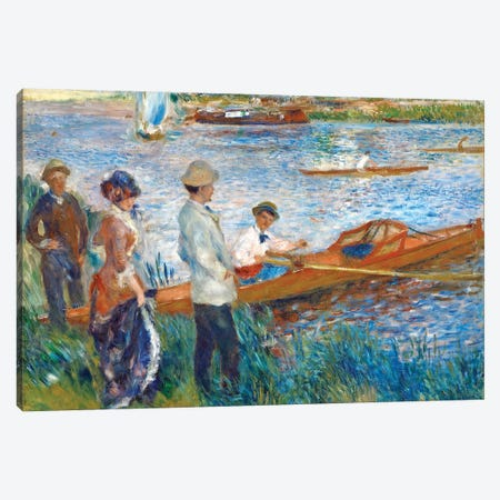 Oarsmen At Chatou, 1879 Canvas Print #BMN7184} by Pierre-Auguste Renoir Canvas Artwork