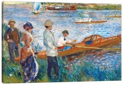 Oarsmen At Chatou, 1879 Canvas Art Print
