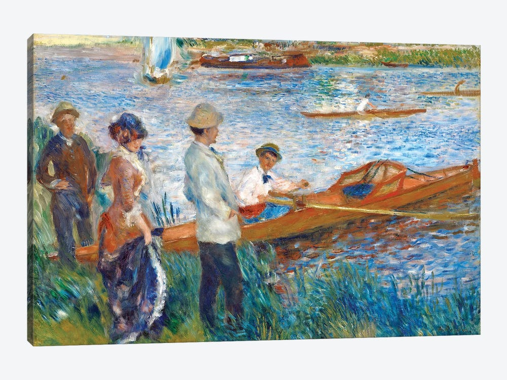 Oarsmen At Chatou, 1879 by Pierre-Auguste Renoir 1-piece Canvas Art