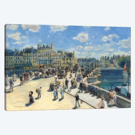 Pont Neuf, Paris, 1872 Canvas Print #BMN7185} by Pierre-Auguste Renoir Canvas Wall Art