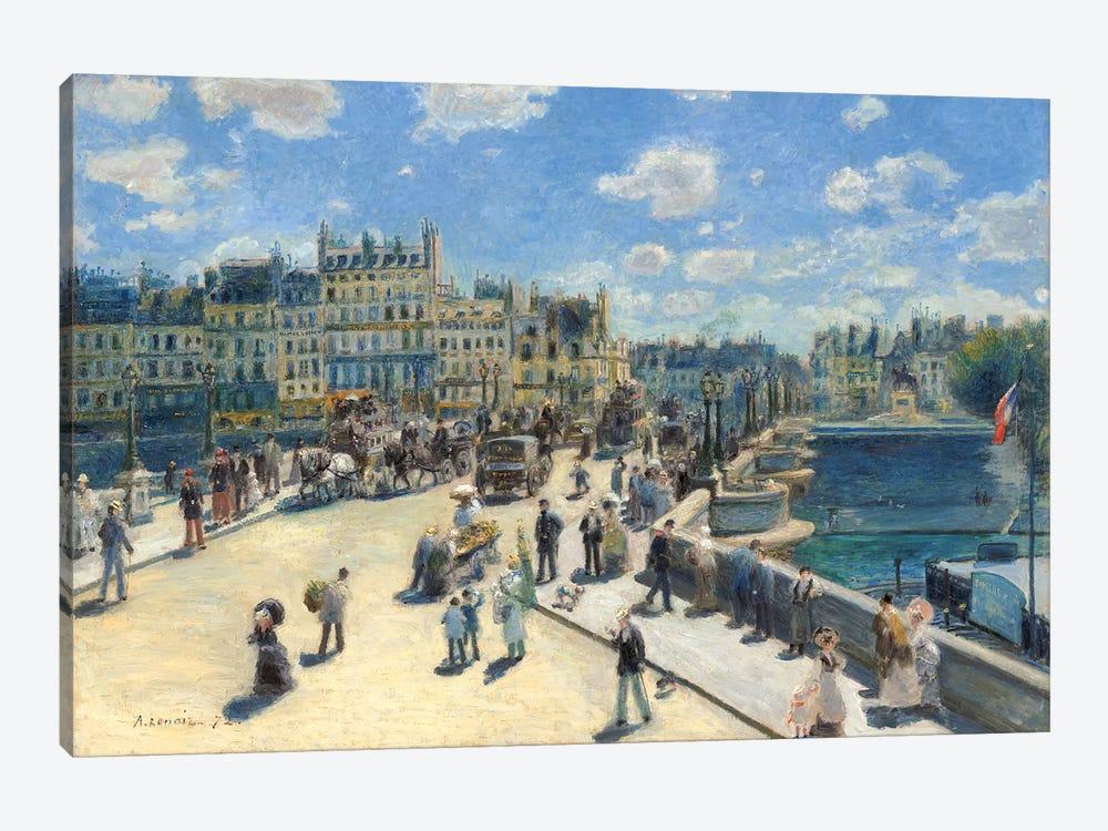 Pont Neuf, Paris, 1872 by Pierre-Auguste Renoir 1-piece Canvas Print