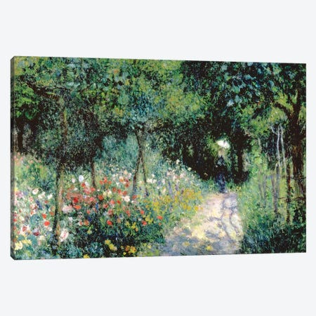 Women In A Garden, 1873 Canvas Print #BMN7188} by Pierre-Auguste Renoir Canvas Art Print
