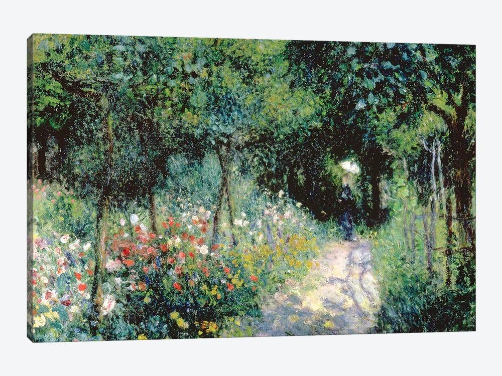 Women In A Garden, 1873 by Pierre-Auguste Renoir 1-piece Canvas Wall Art