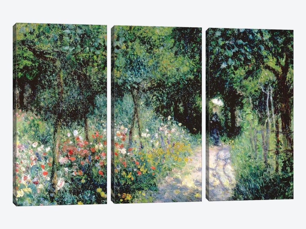 Women In A Garden, 1873 by Pierre-Auguste Renoir 3-piece Canvas Art