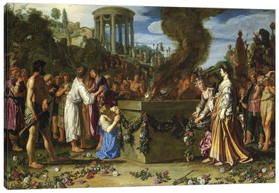 Orestes And Pylades Disputing At The Altar, 1614 Canvas Art Print