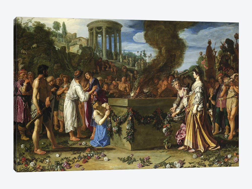Orestes And Pylades Disputing At The Altar, 1614 by Pieter Lastman 1-piece Art Print