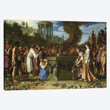 Orestes And Pylades Disputing At The Altar, 1614 Canvas Print #BMN7189} by Pieter Lastman Canvas Print