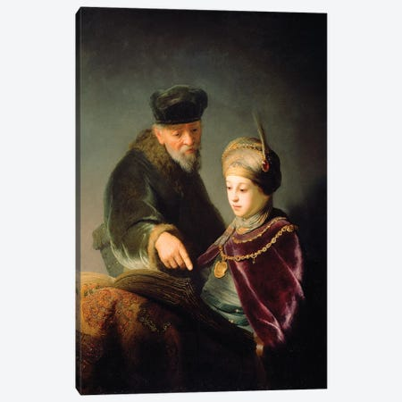 A Young Scholar And His Tutor, c.1629-30 Canvas Print #BMN7190} by Rembrandt van Rijn Canvas Art