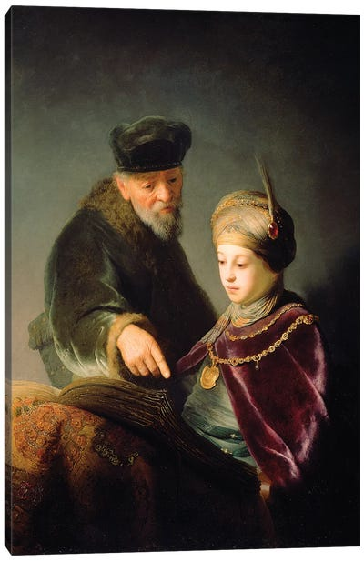 A Young Scholar And His Tutor, c.1629-30 Canvas Art Print
