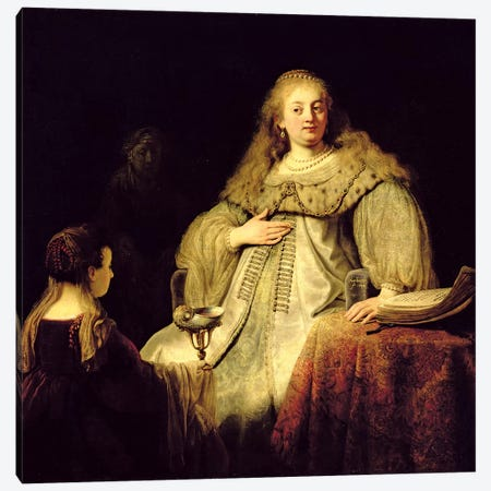 Artemisia, 1634 Canvas Print #BMN7191} by Rembrandt van Rijn Canvas Wall Art