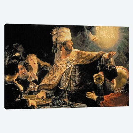 Belshazzar's Feast, c.1636-38 Canvas Print #BMN7192} by Rembrandt van Rijn Canvas Wall Art