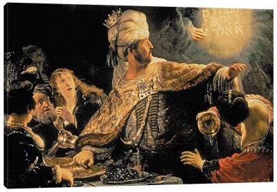 Belshazzar's Feast, c.1636-38 Canvas Art Print