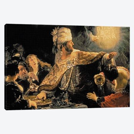 Belshazzar's Feast, c.1636-38 Canvas Print #BMN7192} by Rembrandt van Rijn Canvas Wall Art