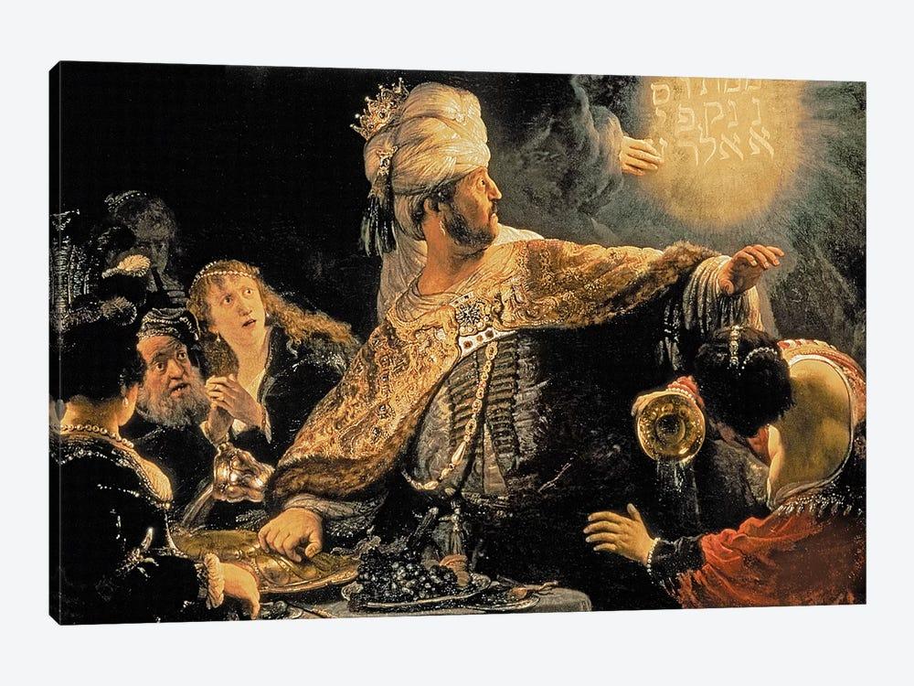 Belshazzar's Feast, c.1636-38 by Rembrandt van Rijn 1-piece Canvas Art Print