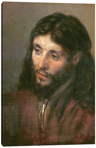 Head Of Christ, c.1648 (Gemaldegalerie) Canvas Art Print