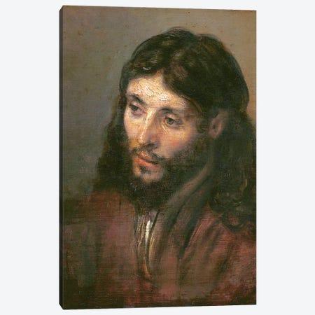 Head Of Christ, c.1648 (Gemaldegalerie) Canvas Print #BMN7193} by Rembrandt van Rijn Canvas Artwork