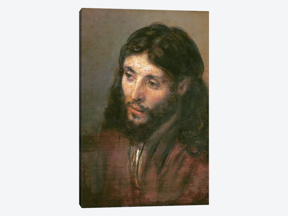 Head Of Christ, c.1648 (Gemaldegalerie) by Rembrandt van Rijn 1-piece Canvas Wall Art