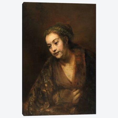 Hendrickje Stoffels, c.1650 Canvas Print #BMN7194} by Rembrandt van Rijn Canvas Art Print
