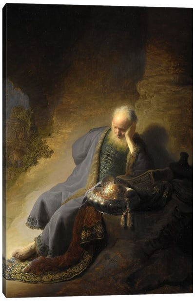Jeremiah Lamenting Over The Destruction Of Jerusalem, 1630 Canvas Art Print