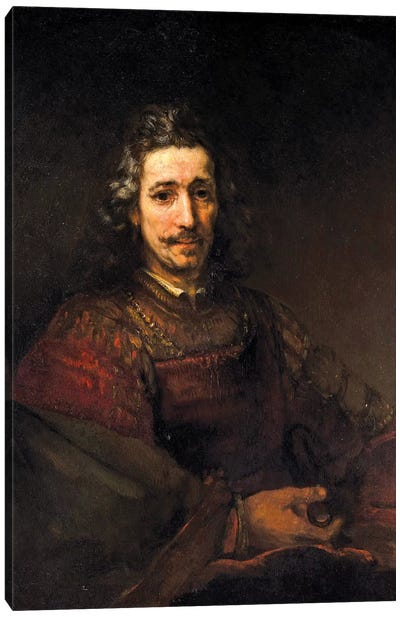 Man With A Magnifying Glass, c.1660 Canvas Art Print