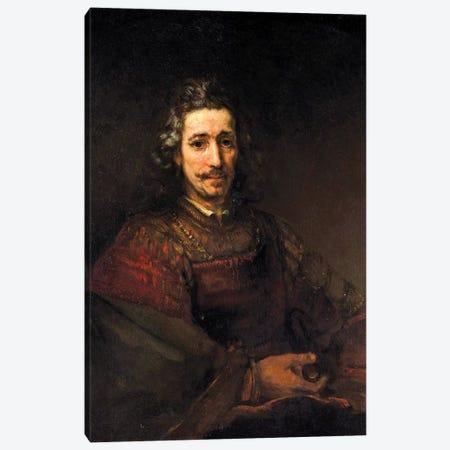 Man With A Magnifying Glass, c.1660 Canvas Print #BMN7196} by Rembrandt van Rijn Canvas Art Print