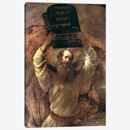 Moses Smashing The Tablets Of The Law, 1659 Canvas Print #BMN7197} by Rembrandt van Rijn Art Print