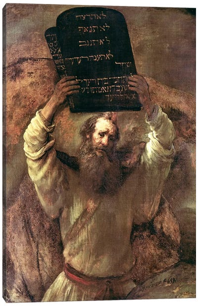 Moses Smashing The Tablets Of The Law, 1659 Canvas Art Print