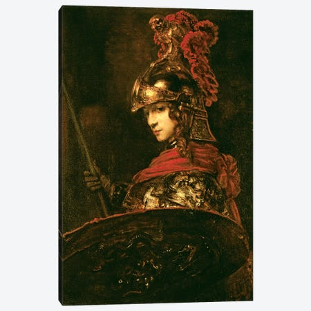 Pallas Athena (Armoured Figure), 1664-65 Canvas Print #BMN7198} by Rembrandt van Rijn Canvas Artwork