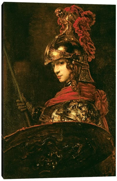 Pallas Athena (Armoured Figure), 1664-65 Canvas Art Print