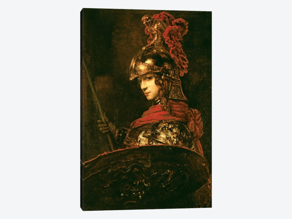 Pallas Athena (Armoured Figure), 1664-65 by Rembrandt van Rijn 1-piece Canvas Print