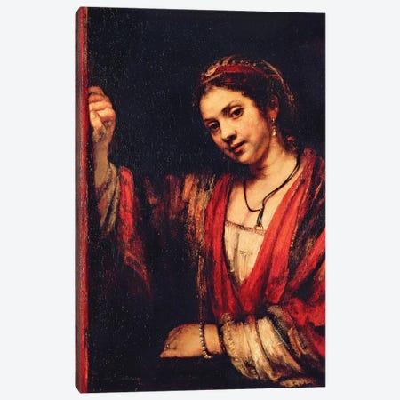 Portrait Of Hendrickje Stoffels Canvas Print #BMN7199} by Rembrandt van Rijn Canvas Wall Art